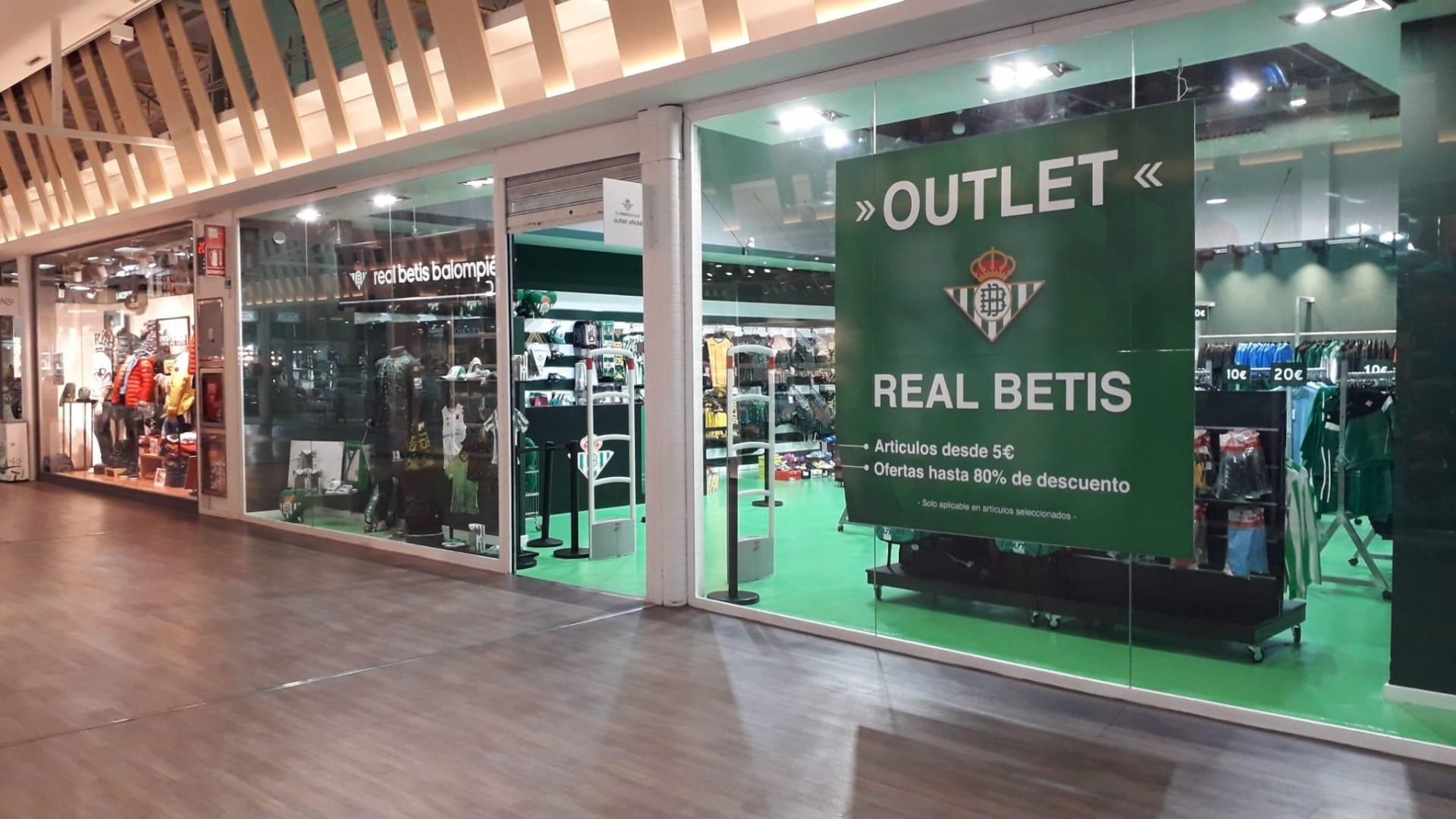 tienda outlet real betis balompie