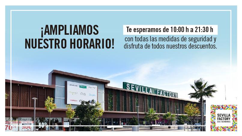 HORARIO SEVILLA FACTORY DOS HERMANAS